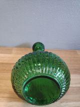 carafe verte nervurée avec bouchon rond
