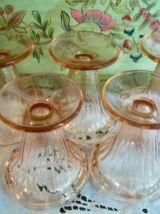 5 coupes à glace  Rosaline Luminarc Arcoroc  vintage 1970