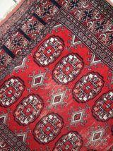 Tapis vintage Ouzbek Bukhara fait main, 1C739