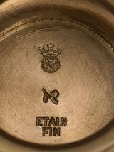 Hanap, vase à boire en Etain fin