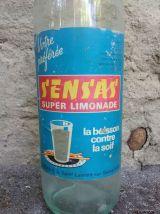 """Ancienne bouteille de limonade en verre """"S'ENS'AS"""""""