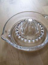 presse agrumes en verre vintage