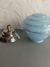 ANCIENNE LAMPE A POSER VERRE DE CLICHY VINTAGE