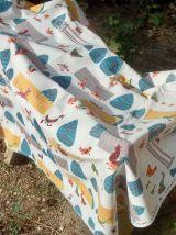Un grand coupon de tissu Romanex Boussac neuf