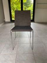 Lot de 4 chaises gris Alma Roberto Barbieri x B&B Italia