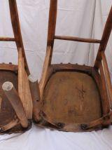 Chaises bistrot décapées dossier longs barreaux