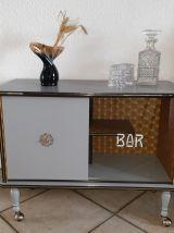 Meuble bar vintage relooké