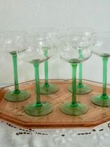 6 verres à vin d'Alsace verres à pied , verres ballon