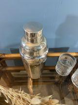 Shaker vintage en métal argenté