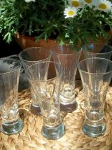6  grands verres à pastis vintage et la carafe RICARD