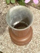 pot , vase en  cuivre , vintage