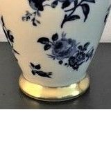 vase porcelaine bleu Bavaria doré à l'or fin, 30cm