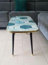 Table basse vintage,pieds compas