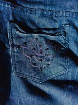 Salopette femme S en jeans bleu foncé