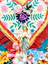 Niche de la Vierge Marie, bois, bohème, kitsch