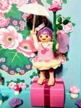 Cadre Playmobil rose personnalisable, fille, licorne