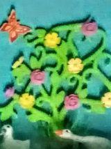 Cadre Playmobil vert, personnalisable, fille, fête
