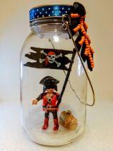 Lampe Playmobil lanterne pirate, veilleuse fibustier