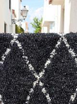 Tapis 65 x 120 cm - Noir et blanc - Reversible