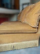 Canapé lit vintage 3 places velours