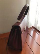 sac à main bordeaux vintage
