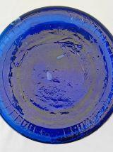 Vase en verre bleu cobalt
