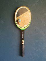 Miroir mural ovale bois raquette tennis Donnay noir et vert