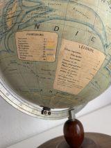 Globe vintage 1940 terrestre mappemonde J.Forest - 37cm