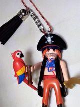 Collier Playmobil pirate, prénom personnalisable