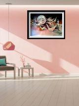 Tableau peinture acrylique décoration mural chambre enfant