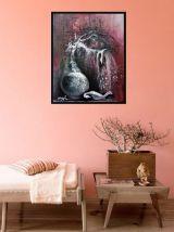 Tableau peinture acrylique déco mural chambre