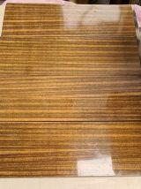 etagere string acier faux bois, montants torsadé or 1960