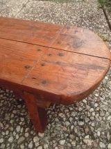 petit banc en bois ,vintage