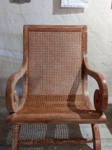 Fauteuil colonial cannage