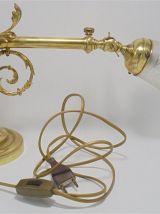 Lampe en bronze et laiton