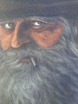 Ancien tableau portrait huile sur toile