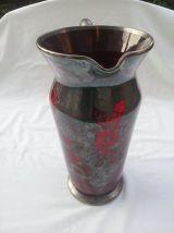 Pichet rouge vintage Murano / Art de la table