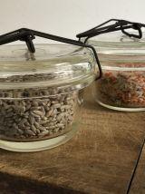 Paire de bocaux Pyrex - 1/4 litre, décoration de cuisine