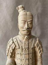 Guerrier de Xian en terre cuite.