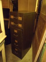 Classeur 5 tiroirs ex armée meuble industriel vers 1940.