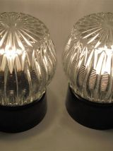 Paire de luminaires vintage