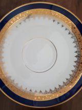 Tasse à chocolat bleu de Sèvres, porcelaine de Limoges