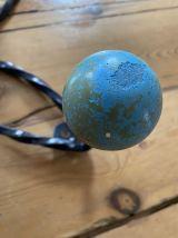 Ancienne patere 4 boules multicolore vintage
