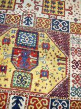 Tapis ancien Caucasien Kazak Karachov fait main, 1B36
