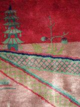 Tapis ancien Chinois Art Deco fait main, 1B171A