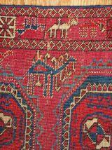 Tapis ancien Turkmène Saryk fait main, 1B173