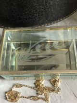 Coffre à bijoux, verre biseauté