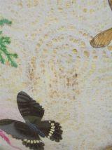 Plateau et 6 sous-verres papillons