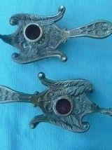 paire  de  bougeoirs  cygne, vintage