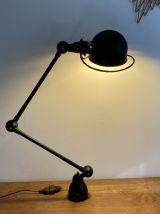Lampe JIELDE. 2 bras articulés. 1950. Noire.